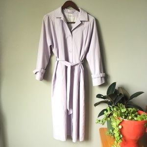Vintage Lilac Belted Trench Coat 0618